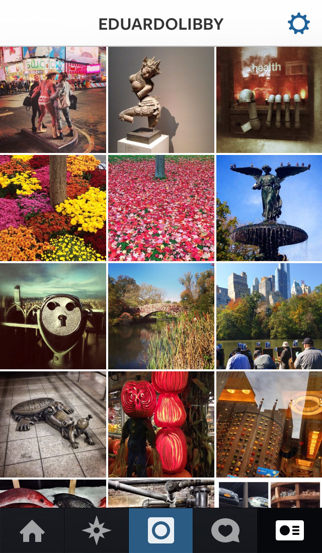 Screenshot of Eduardo Libby's Instagram photos.