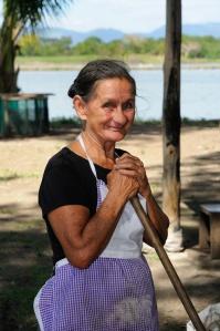 Photo of an elder woman in a Guanacaste, Costa Rica farm.