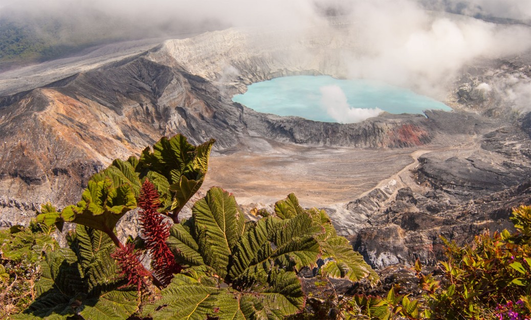 Photo of Poas Volcano Crater, Costa Rica.