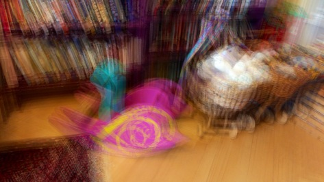 A multiple exposure of toys done with OverCam moving the iPhone.  Photo by Eduardo Libby.