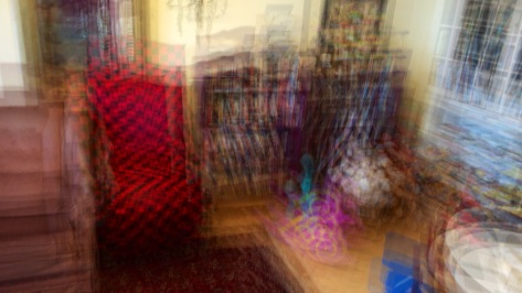 A multiple exposure of a games room done with OverCam panning the iPhone.  Photo by Eduardo Libby.