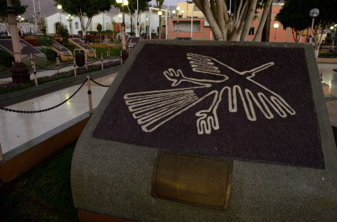 Photo of the Condor Nazca Figure at a Nazca Park. Photo by Eduardo Libby.