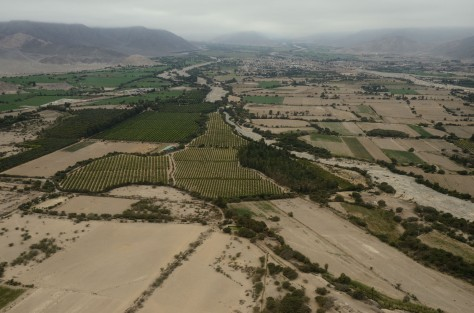 Aerial Photo of the Nazca River Valley. Photo by Eduardo Libby.