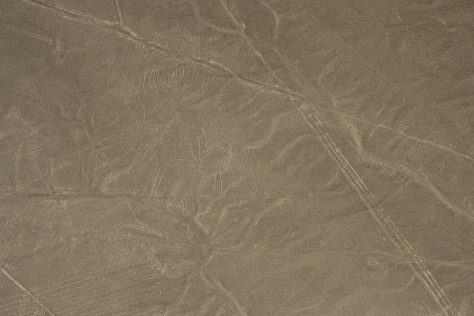 Photo of the Monkey at the Nazca Lines. Photo by Eduardo Libby.
