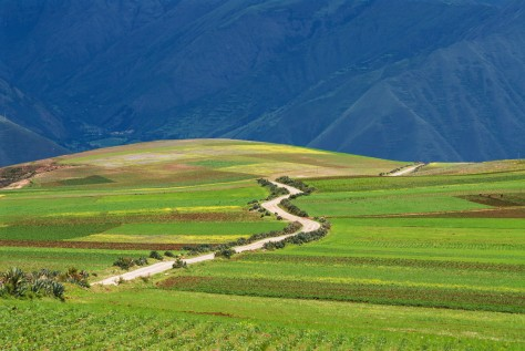 Image of the road from Cuzco through the Sacred Valley of the Incas. Photo by Eduardo Libby.