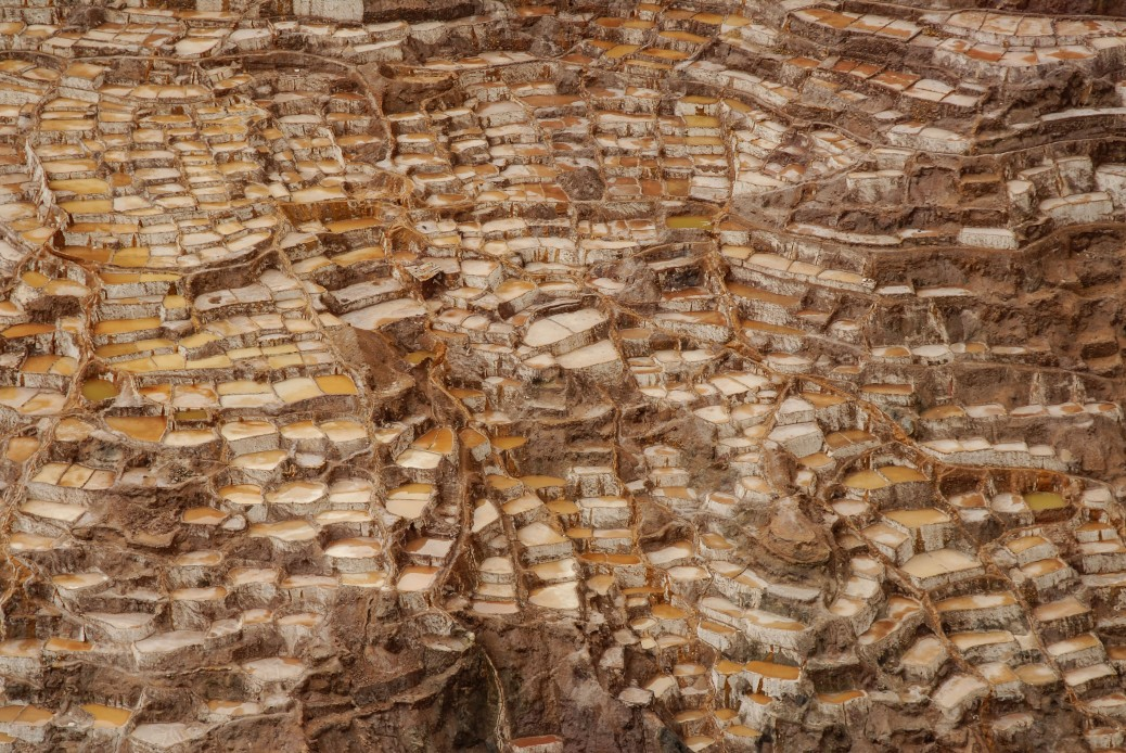 Image of Maras, Peru salt evaporation ponds in Peru. Photo by Eduardo Libby