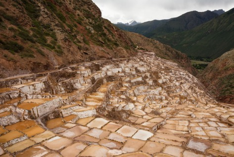 Image of Maras salt evaporation ponds in Peru. Photo by Eduardo Libby