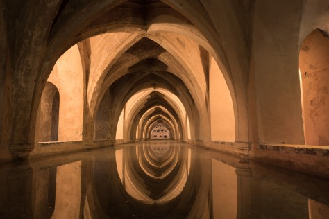 Image of the Cisterns of the Alcázar of Seville. Photo by Eduardo Libby