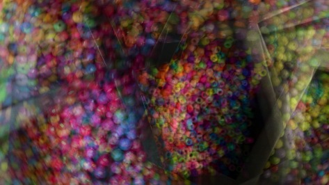 Panning during a multiple exposure image of beads. Photo by Eduardo Libby