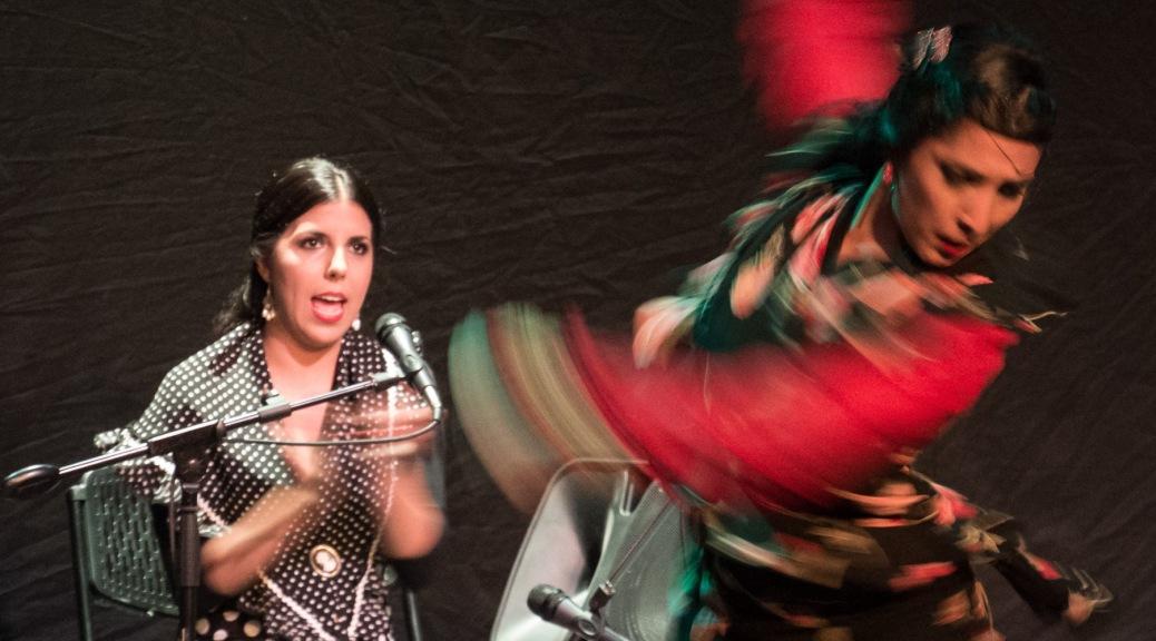 "Photo of singer or ""cantaora"" Cristina Soler and dancer or ""bailaora"" Sol Acuña."