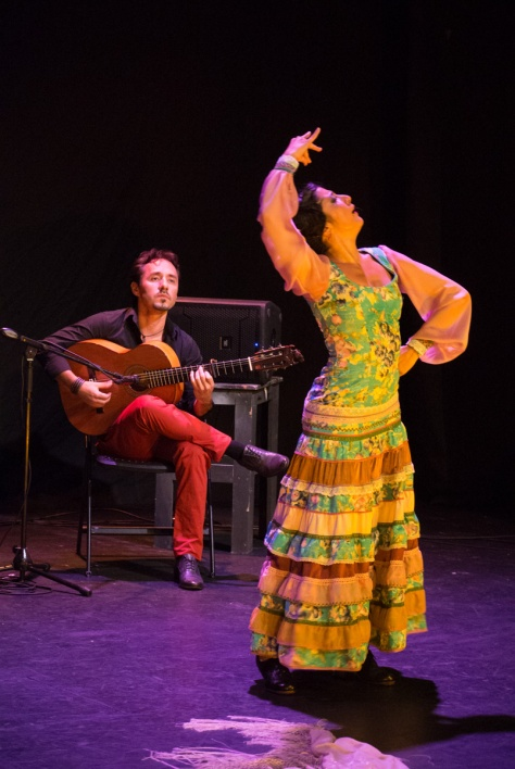 Photo of Manuel Montero and Sol Acuña during the Show.