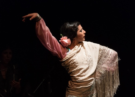 Photo of Flamenco Dancer Sol Acuña.
