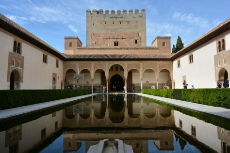 Images of Alhambra: The mirror-like pond of the Court of the Myrtles (Patio de los Arrayanes). Photo by Eduardo Libby