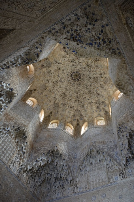 Images of Alhambra: Ceiling decorations of the Alhambra. Photo by Eduardo Libby