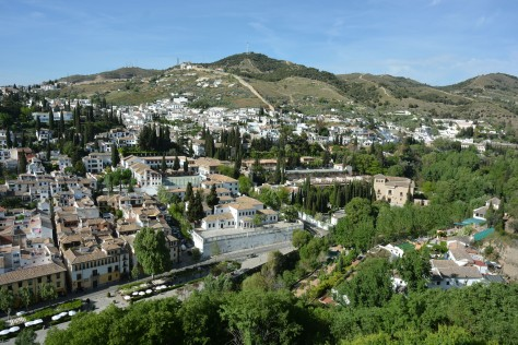 Images of Alhambra: The view of Granada's historic quarter, the Albaicín from the chambers that look towards the northeast. Photo by Eduardo Libby