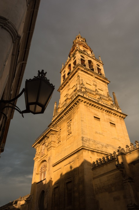 Image of a tower at the Mosque-Cathedral of Cordoba, Spain. Photo by Eduardo Libby