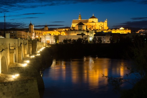 Image of the Mosque-Cathedral of Cordoba in the evening. Photo by Eduardo Libby