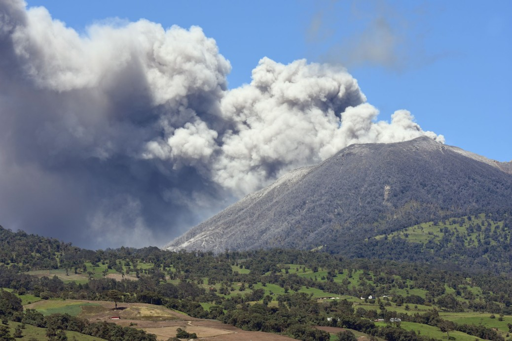 Image of the Plume from Turrialba Volcano in Costa Rica. Photo by Eduardo Libby