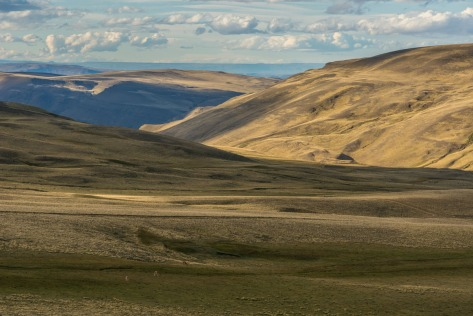 Image of hills and open spaces of Patagonia at sunset. Photo by Eduardo Libby
