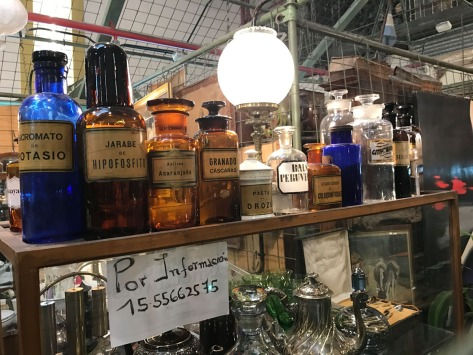 Drugstore items on an antiques shop in San Telmo, Buenos Aires. Photo by Eduardo Libby