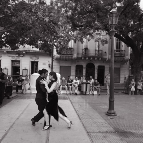Street Tango dancers in San Telmo, Buenos Aires. Photo by Eduardo Libby