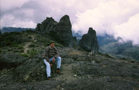Eduardo Libby in Cerro Crestones, Costa Rica. Self portrait by Eduardo Libby