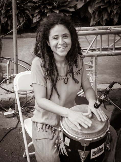 Percusionist in San Pedro, Costa Rica. Photo by Eduardo Libby
