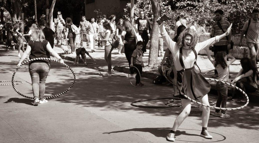 Hula hoop dancer. Photo by Eduardo Libby