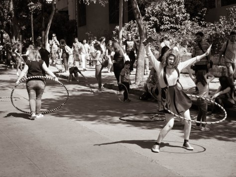 Hula hoop dancer. Photo by Eduardo Libby